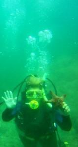 Lisa with starfish com