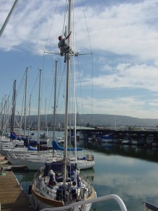 Up a mast