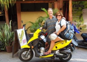 Bill and lisa with scooter com